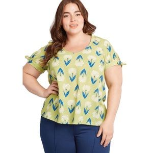 Modcloth Plus Size Ideal Discovery Blouse
